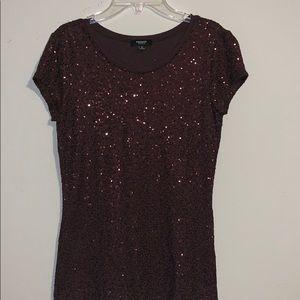 Glittery brown shirt